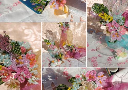 Idee  per  bomboniere con i fiori di perline