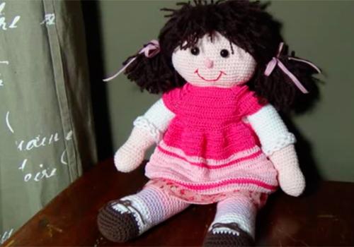 Bambola all uncinetto parte 4